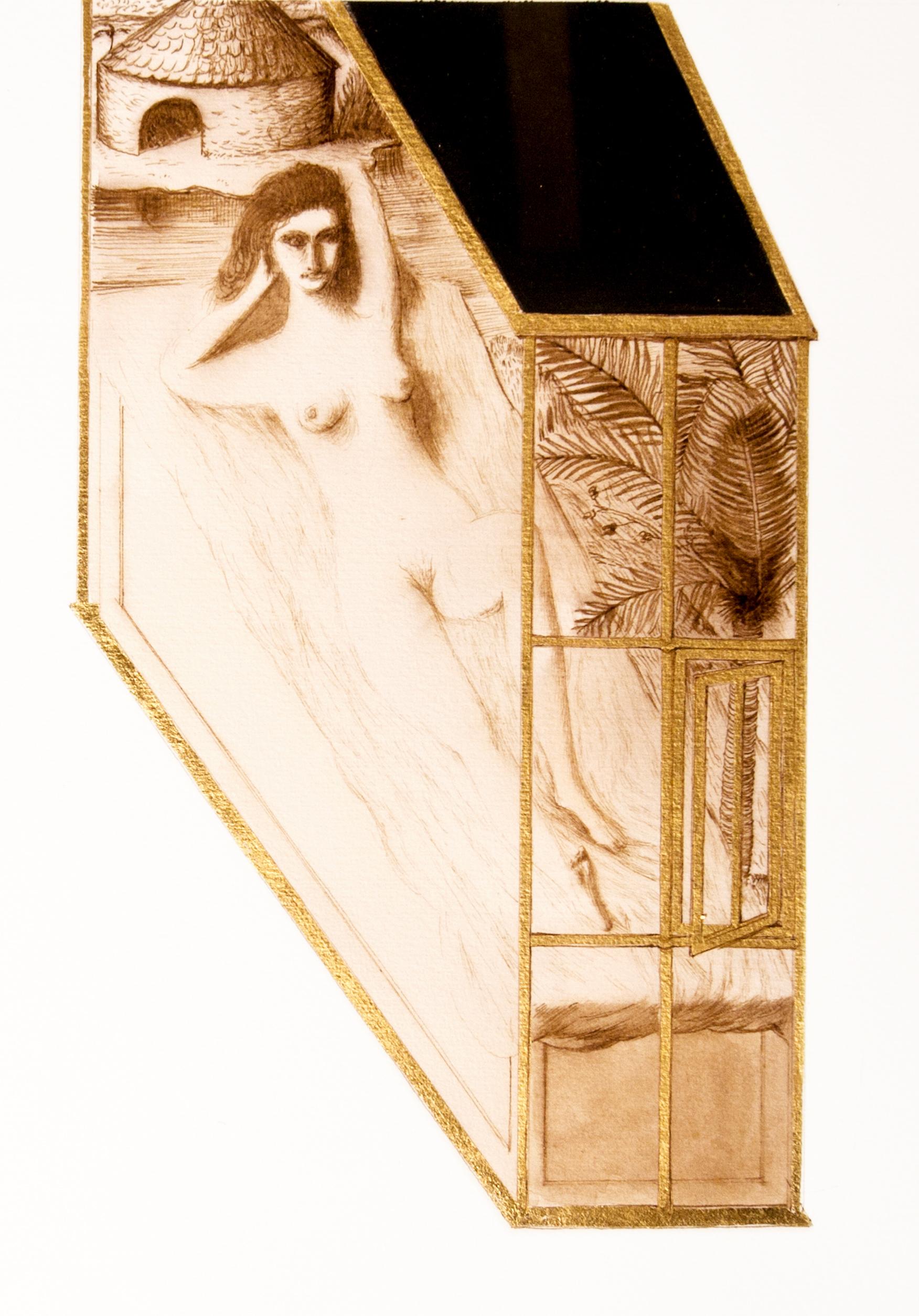 Ettore Tripodi - donna in gabbia